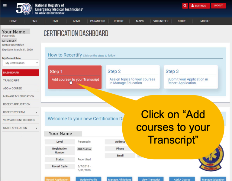 Add Courses to your Transcript